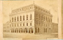 YMCA building, south and east fa�ades, drawing, ca. 1867